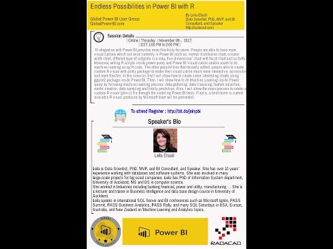 Endless Possibilities in Power BI with R By Leila Etaati