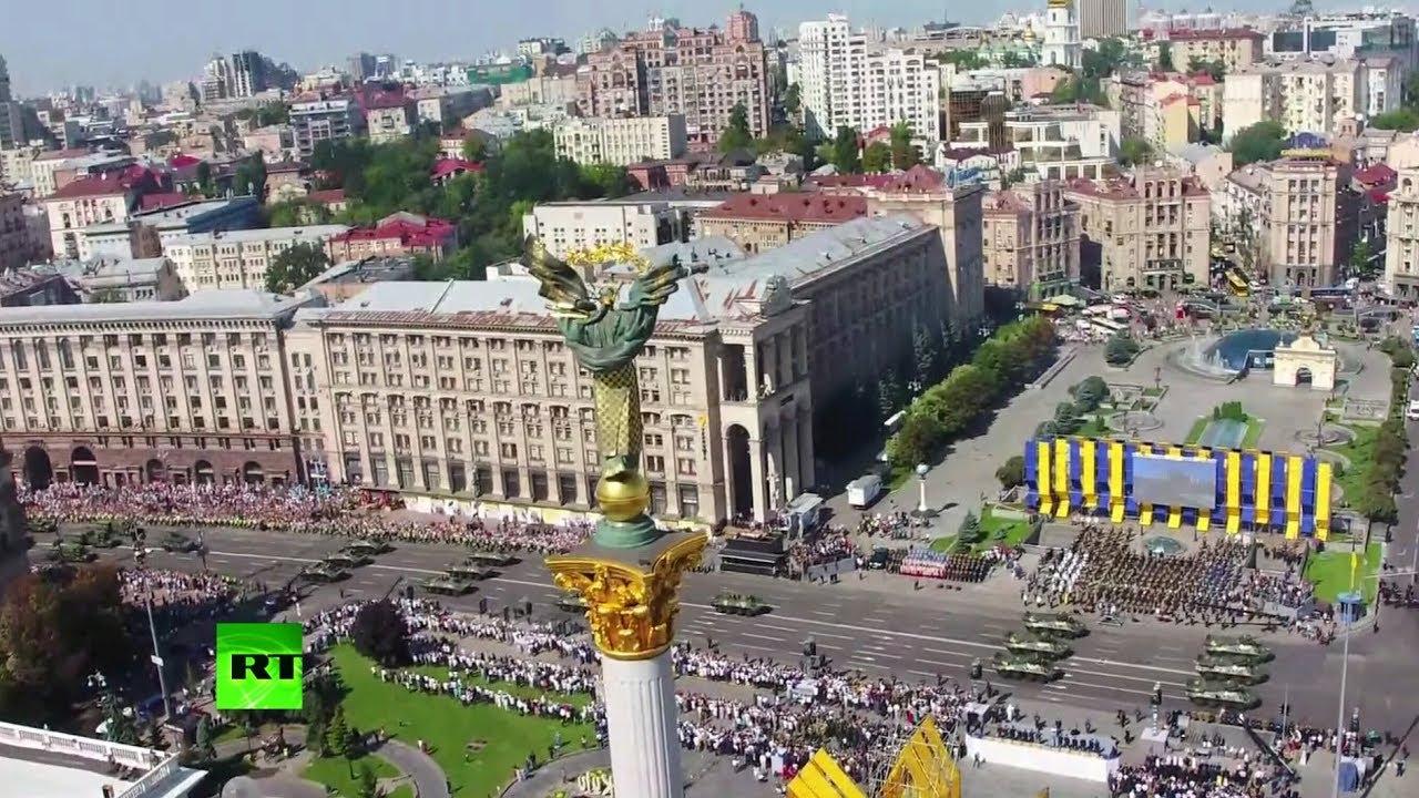Не всё по плану: в Киеве прошёл военный парад в честь Дня независимости Украины