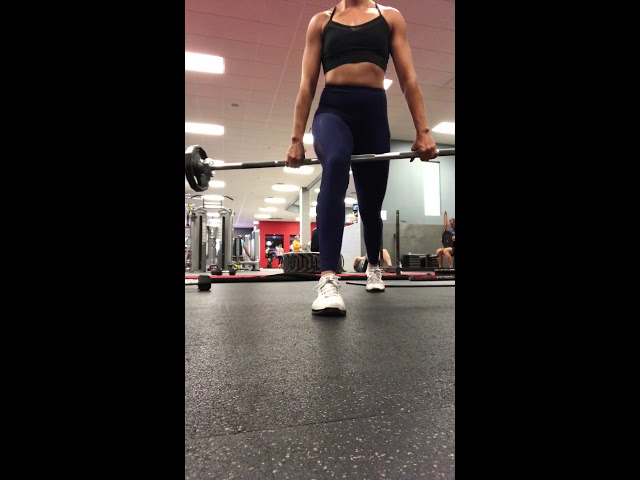 Barbell between legs lunge!