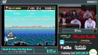 Awesome Games Done Quick 2015 - Part 126 - Shinobi III: Return of the Ninja Master by Keaur