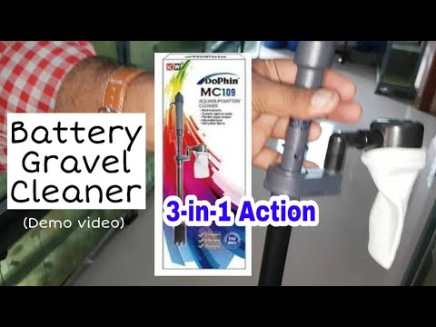 Battery Aquarium Gravel Cleaner (3-in-1 Action)