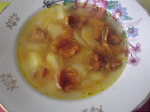 Грибной суп с лисичками. Простой рецепт приготовления.