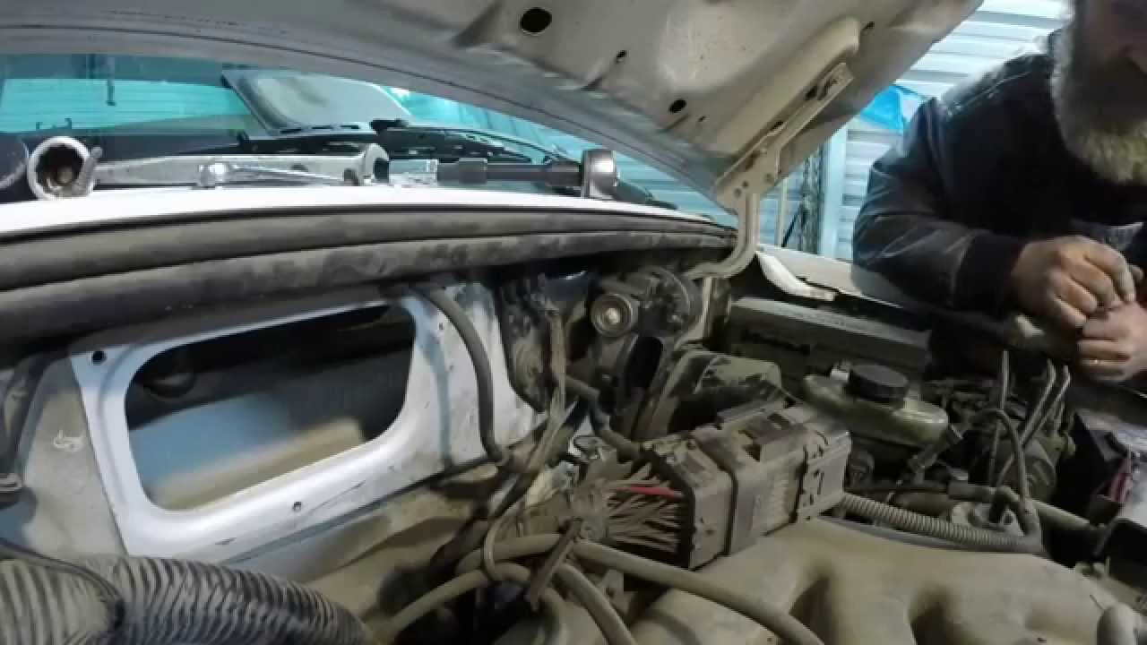 ford econoline wiring diagram msd 7al 2000 ranger wiper motor remove and reinstall - youtube