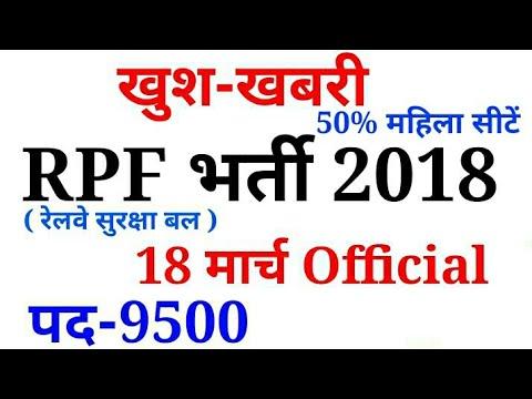 Railway RPF Bharti 2018 Official notification ,qualification, syllabus,online form