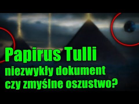 Papirus Tulli, dowód na niezwykłe spotkanie Egipcjan i Obcych!