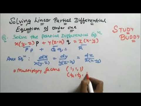 Solving Linear Partial Differential Equation (Lagrange's Equation)