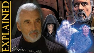 Count Dooku Before the Clone Wars - Star Wars Canon vs Legends