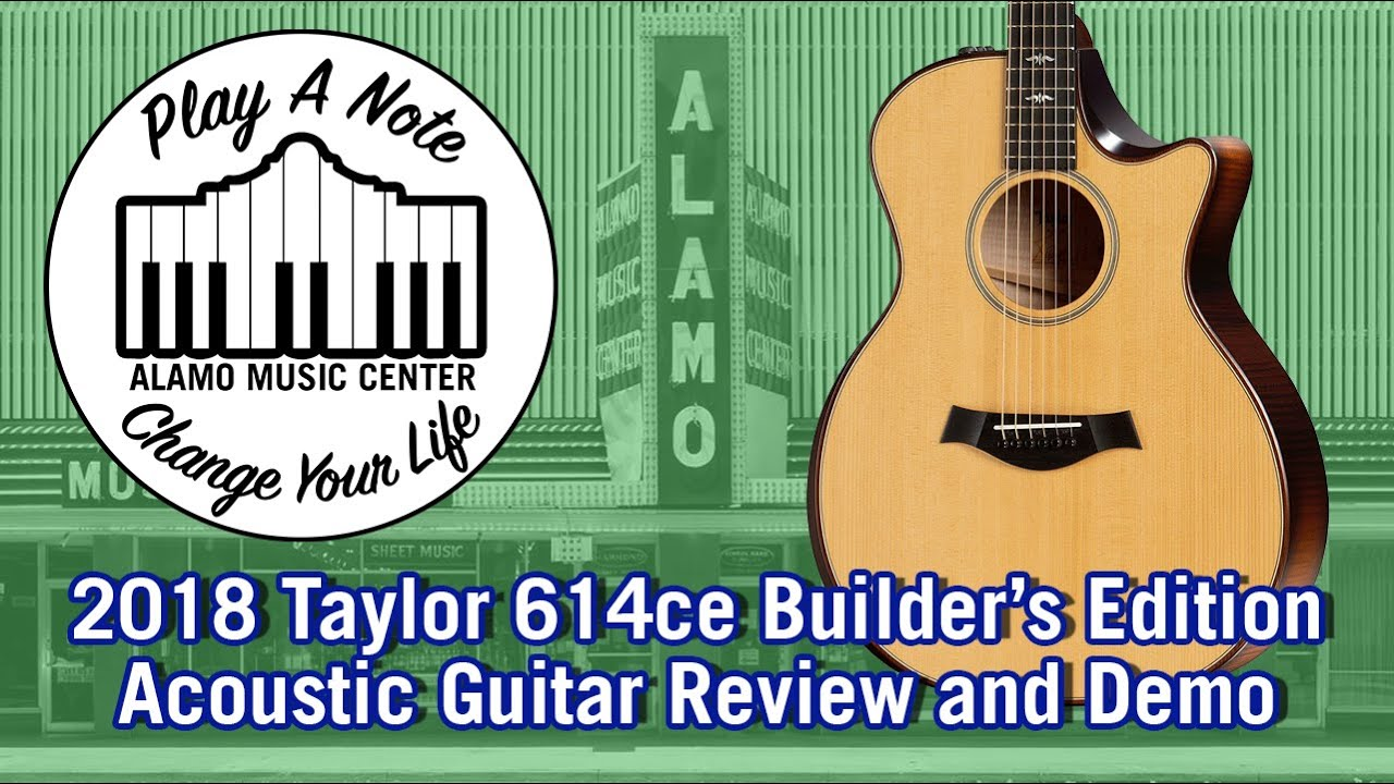 2018 taylor 614ce builder 39 s edition with v class bracing acoustic guitar review and demo youtube. Black Bedroom Furniture Sets. Home Design Ideas