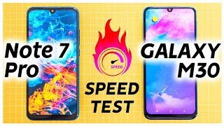Redmi Note 7 Pro vs Samsung Galaxy M30 Speed Test | Bangla Review | Goriber Android