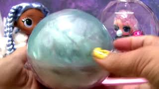 LOL surprise unboxing Winter disco Glitter Globe Fluffy Pets + Lils