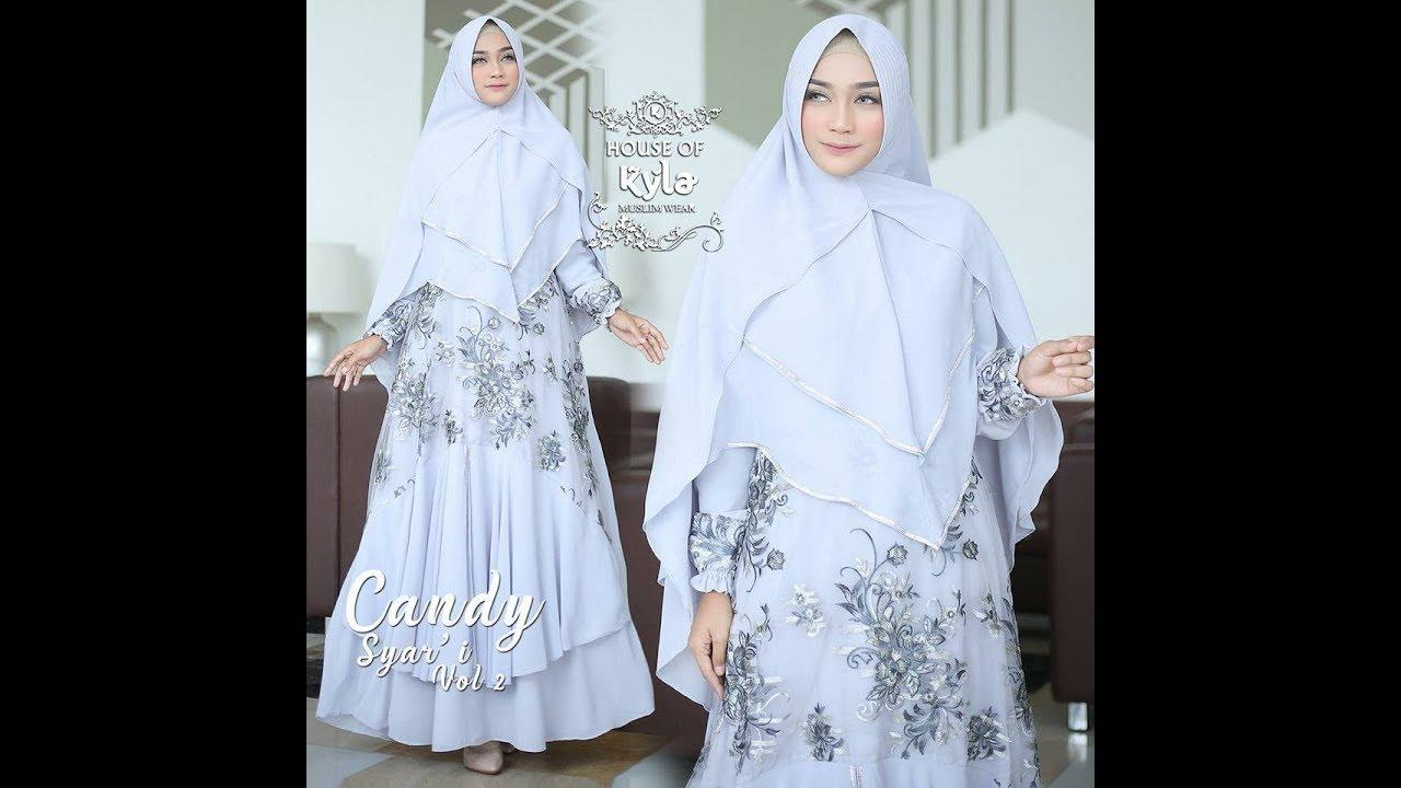 Model Baju Gamis Kombinasi Brokat Terbaru Cantik Elegant Stylish 2018 2019