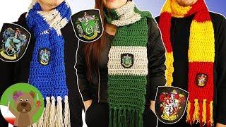 Szaliki domów Harrego Pottera | Hogwarts DIY | szydełkowanie dla początkujących