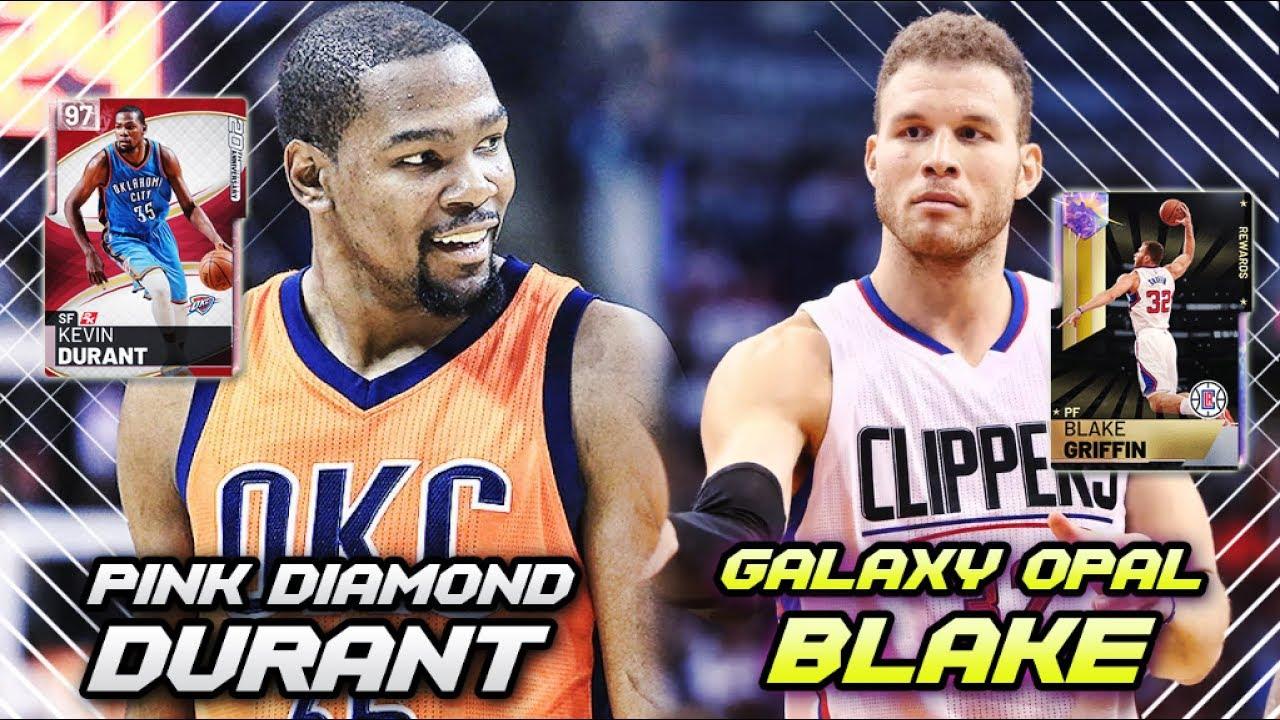 c6df61467b8d NBA 2K19 GALAXY OPAL BLAKE GRIFFIN   PINK DIAMOND KEVIN DURANT!