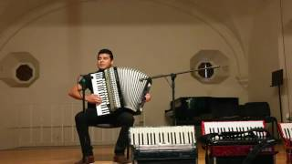 Johannes Brahms - Hungarian Dance No. 5 on Accordion