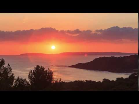 Sunrise over Cote d'Azur France
