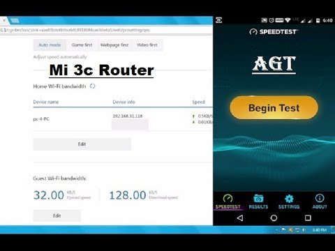 Mi Router 3c Set Speed Limit for Other WiFi User (Guest wireless network)
