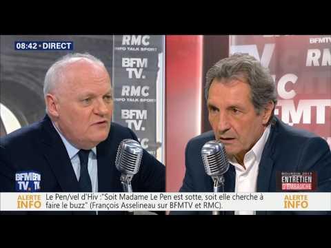 François Asselineau - Bourdin direct BFM TV - 11 avril 2017