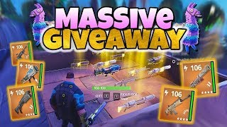 Fortnite STW| Road to 200 Subscribers Weapons giveaway