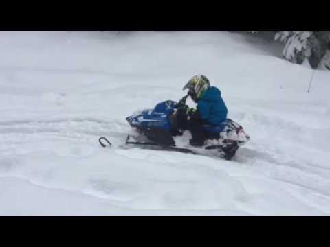 Law wrecking snowmobile
