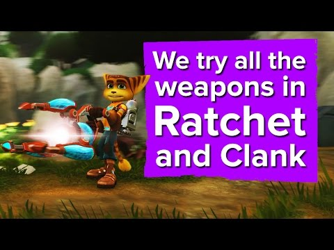 We try all the new weapons in Ratchet and Clank (PS4 gameplay)