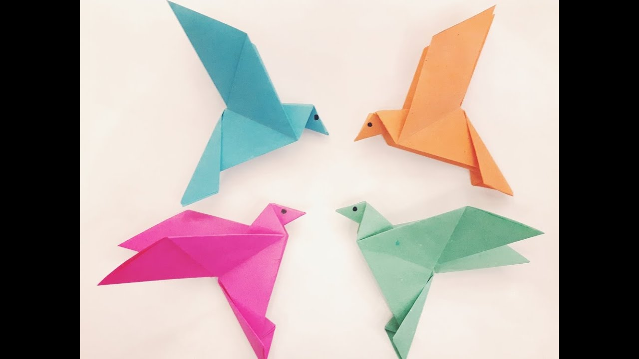 How To Make A Paper Bird Easy Origami Youtube