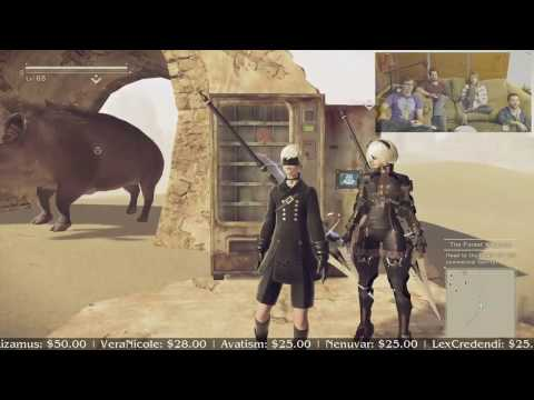 NieR Automata with the voices of Eve and 9S