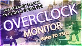 overclock monitor 60hz to 75hz easy guide