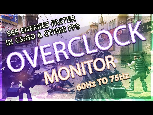 Overclock monitor easily - How to guide - TechiePortal
