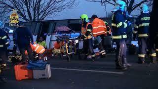 Dopravní nehoda autobusu - Horoměřice