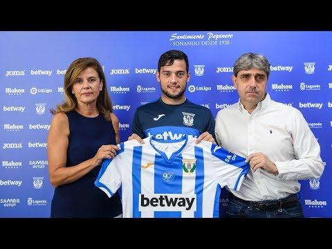 Presentación de José Arnaiz como jugador del C.D. Leganés