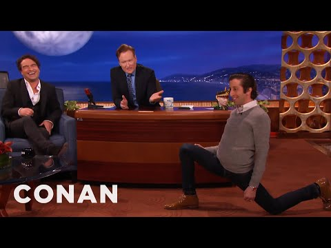 Simon Helberg's Sensual Warm-Up Lunges  - CONAN on TBS