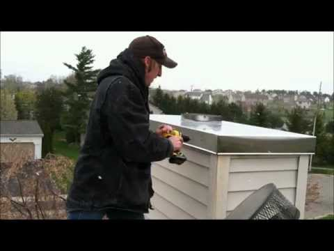 Installing A Stainless Steel Chimney Chase Cover Video