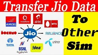 Transfer Jio Internet Data To Other Any Sim    100% Working With Proof