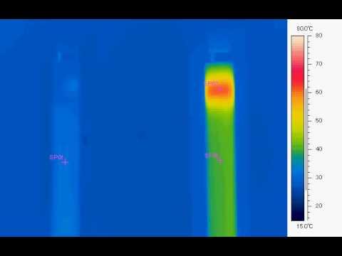 LED蛍光灯サーモグラフィ