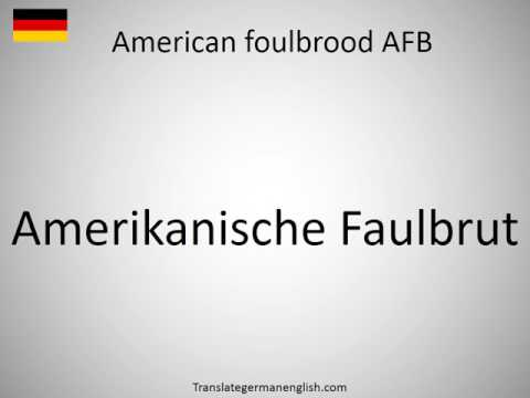 How to say American foulbrood AFB in German?