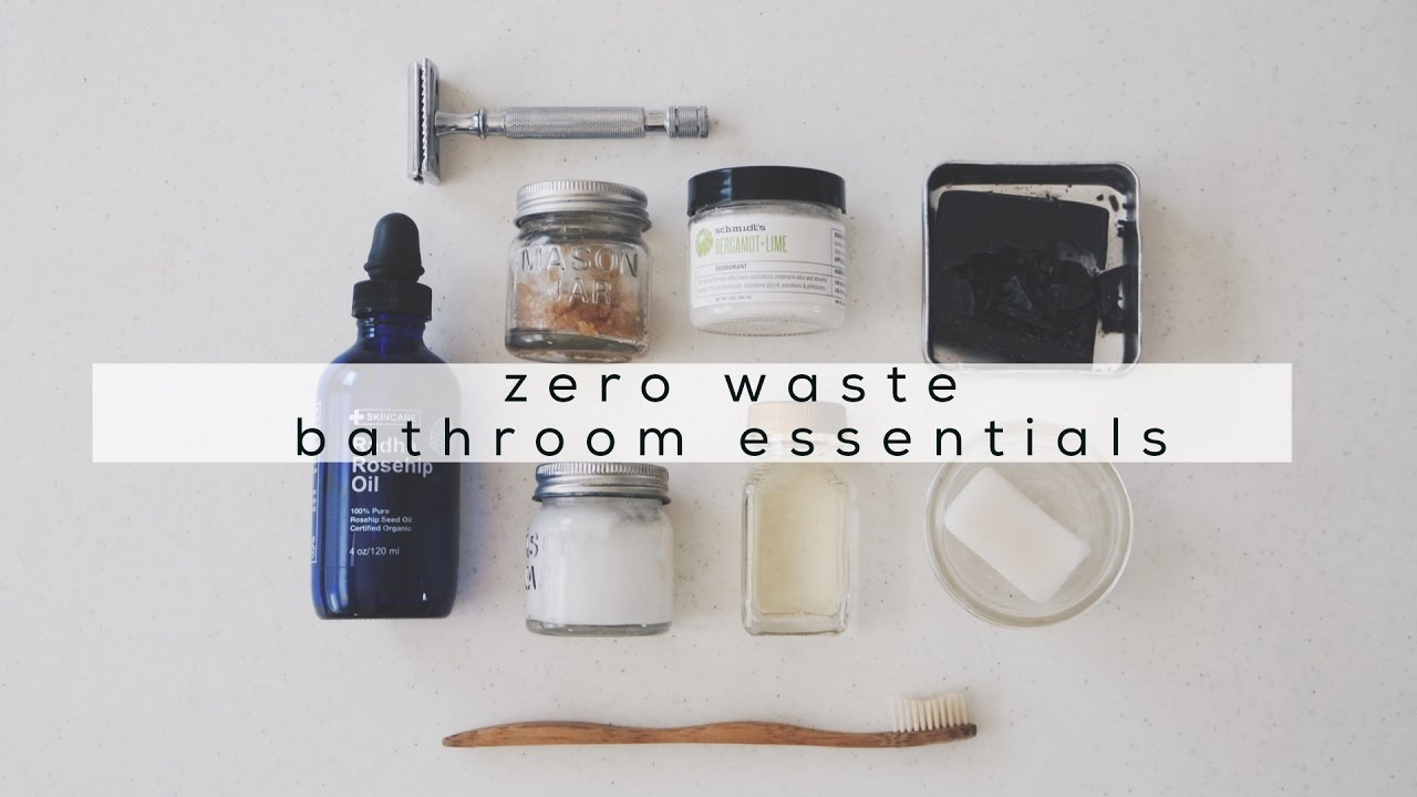 Bathroom Essentials zero waste bathroom essentials + minimalist bathroom tour | jamie