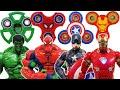 Avengers & Fidget Spinner Go~! Hulk, Spider-Man, Iron Man, Captain America,Transformer, Bumblebee