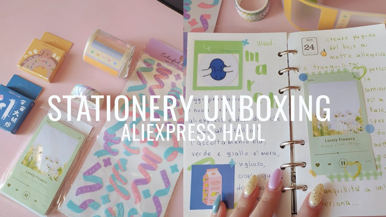 stationery unboxing (aliexpress haul) ~
