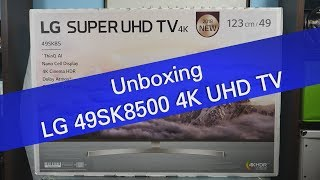 LG 49SK8500 SK85 series 4K UHD TV unboxing and setup