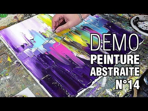 Peinture Abstraite Au Couteau N 14 Youtube