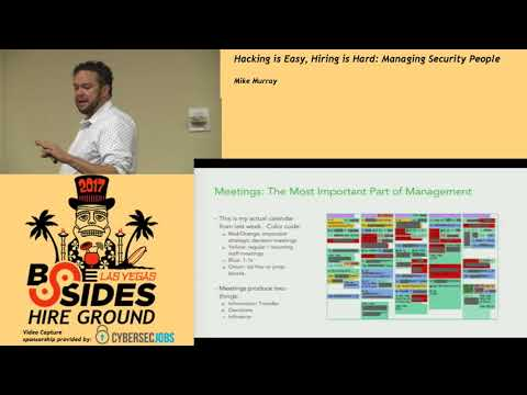 HG - Hacking Is Easy, Hiring Is Hard: Managing Security People - Mike Murray