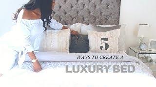 5 WAYS TO CREATE YOUR LUXURY BED #AD| Jade Vanriel