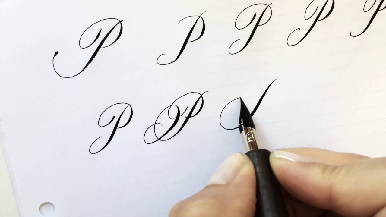 Modern calligraphy letter p youtube Calligraphy youtube
