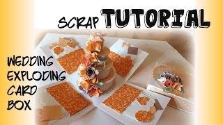 Tutorial Paper Craft / Scrapbooking torta matrimonio - DIY Wedding Cake Esploding Box