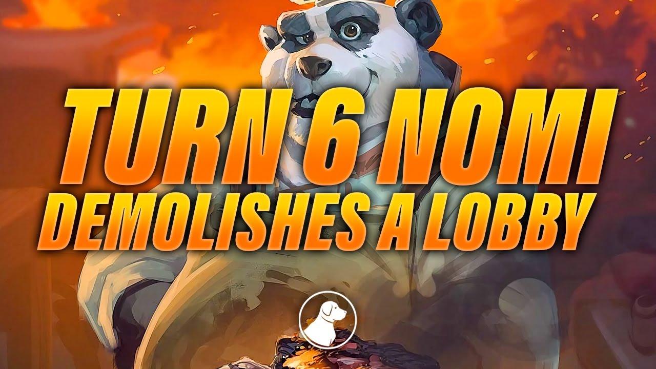 Turn 6 Nomi Demolishes a Lobby, Love This Lil Trash Panda | Dogdog Hearthstone Battlegrounds