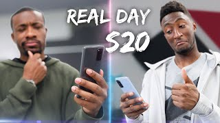 MKBHD vs ME - Galaxy S20 Real Day in the Life!