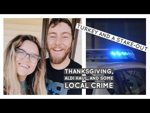 TURKEY AND A STAKE-OUT | ALDI HAUL | #thanksgiving2018 | FAMILY VLOG | CLEAN WITH ME