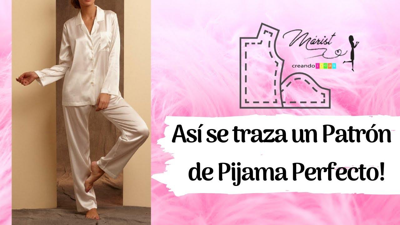32 Patron De Pijama Dama Con Pantalon Sin Costuras Laterales Completo Youtube