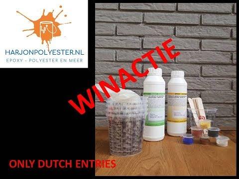 235. Only DUTCH entries - WINACTIE - Resinart starterspakket i.s.m Harjonpolyester.nl ENDED