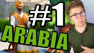 Civilization 5: Brave New World - Arabia [43 Civ Gameplay Strategy] Part 1